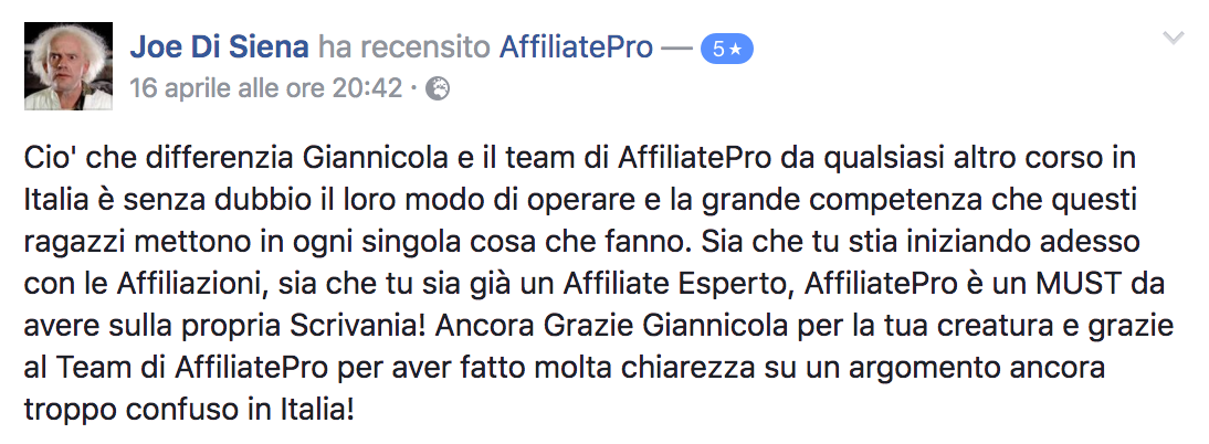 Recensione Joe Di Siena