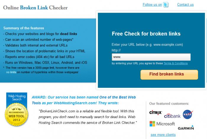 brocken link checker è uno strumento seo gratuito