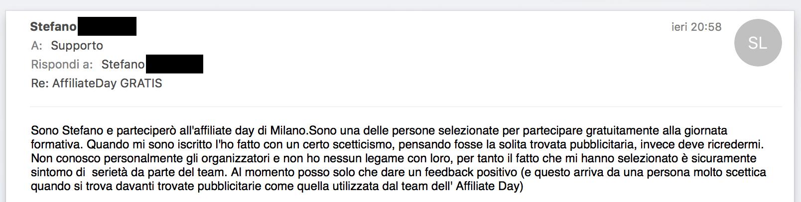 Feedback Stefano