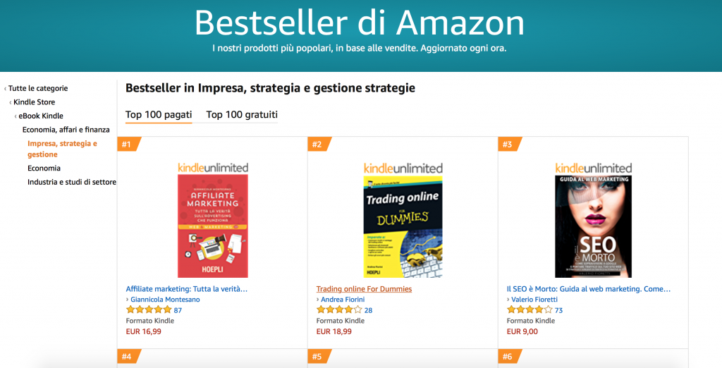 Affiliate Marketing libro AMAZON