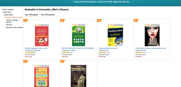 Affiliate Marketing libro AMAZON