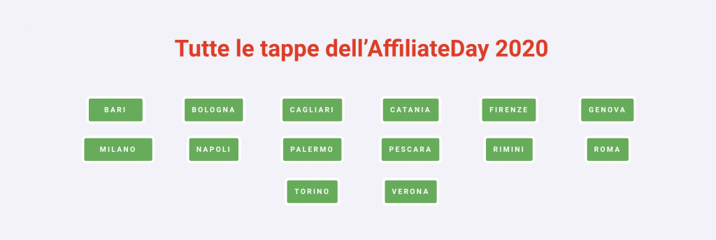 Tappe AffiliateDay 2020