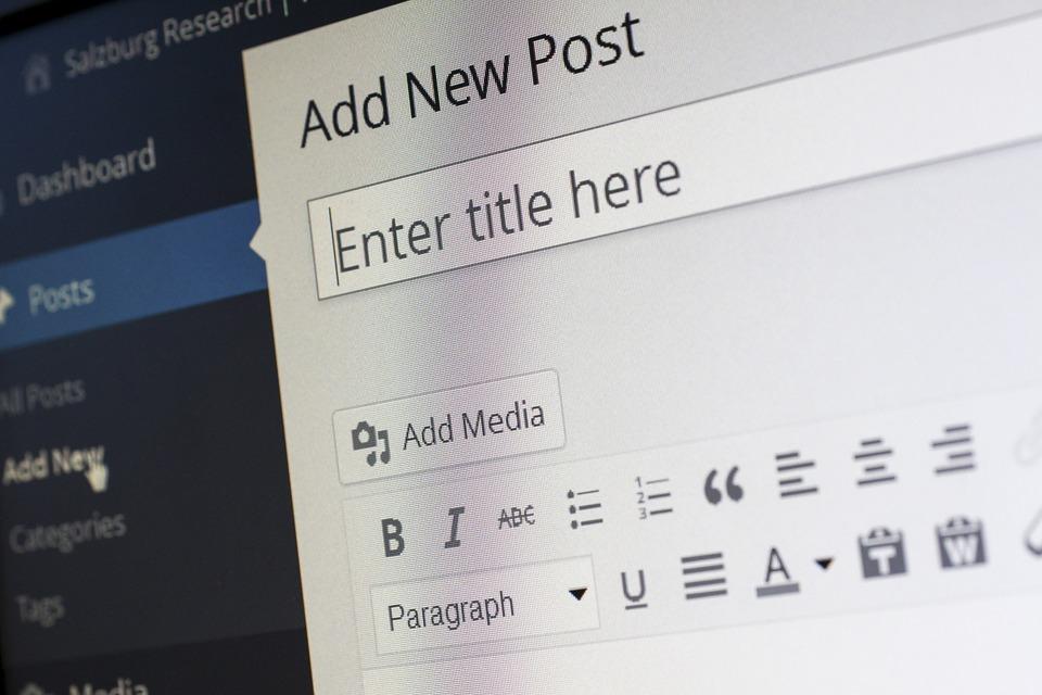 Creare un blog con WordPress_L'immagine mostra la bacheca di WordPress