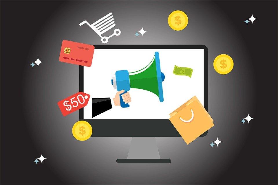 Programma affiliazione Amazon_la foto mostra le icone del commercio online