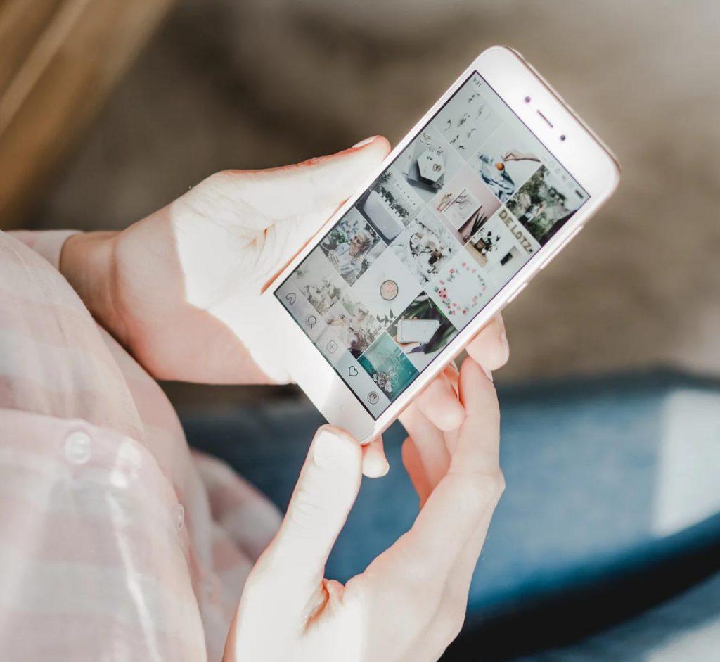Affiliate marketing su Instagram_foto che mostra un feed di Instagram