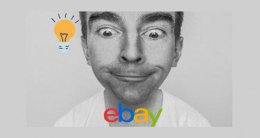eBay partner network_la foto mostra il logo di ebay e un uomo che lo guarda interessato